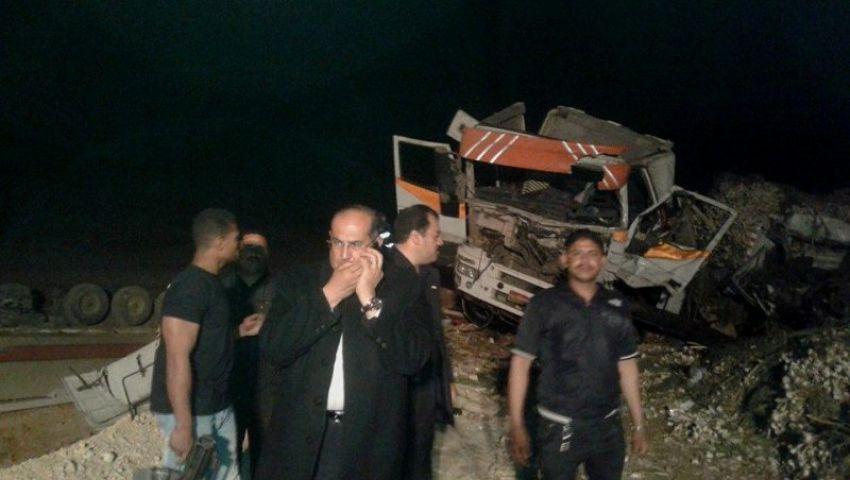 محافظ سوهاج  يزور مصابى حادث البحر الأحمر والنيابة تسمح بدفن الجثث